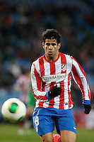17.01.2013 SPAIN - Copa del Rey Matchday 1/2th  match played between Atletico de Madrid vs Real Betis Balompie (2-0) at Vicente Calderon stadium. The picture show  Diego da Silva Costa (Brazilian midfielder of At. Madrid)