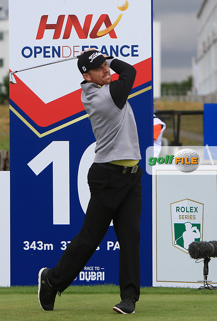 Andrew Dodt (AUS) on the 10th tee during Round 2 of the HNA Open De France  at The Golf National on Friday 30th June 2017.<br /> Photo: Golffile / Thos Caffrey.<br /> <br /> All photo usage must carry mandatory copyright credit      (&copy; Golffile | Thos Caffrey)