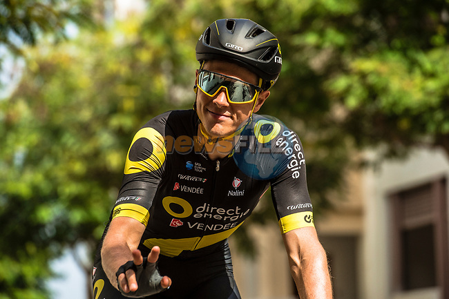 Niki Terpstra (NED) Direct Energie before Stage 6 of the 10th Tour of Oman 2019, running 135.5km from Al Mouj Muscat to Matrah Corniche, Oman. 21st February 2019.<br /> Picture: ASO/Kåre Dehlie Thorstad | Cyclefile<br /> All photos usage must carry mandatory copyright credit (© Cyclefile | ASO/Kåre Dehlie Thorstad)