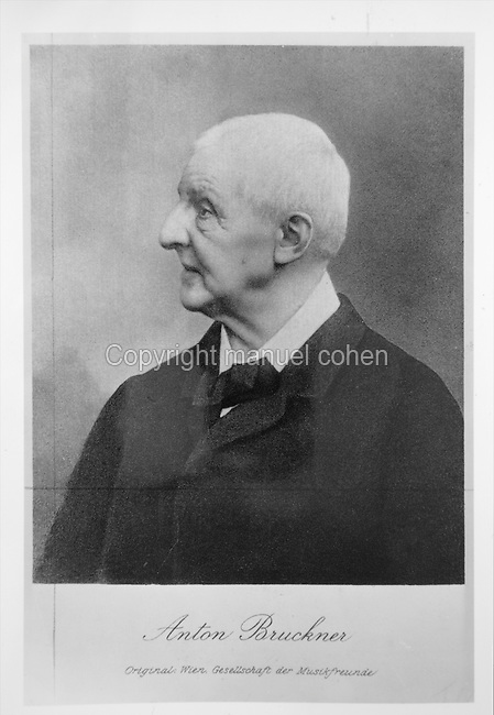 Portrait of Anton Bruckner, 1824-96, Austrian composer, in a late 19th century photograph. Copyright © Collection Particuliere Tropmi / Manuel Cohen