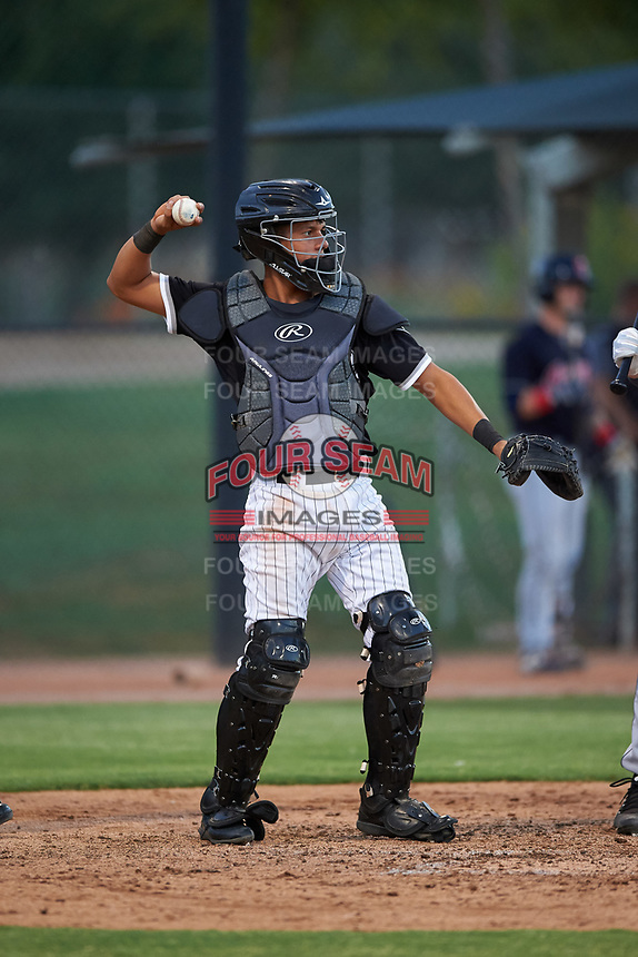 AZL White Sox catcher Victor Torres (77) during an Arizona League game against the AZL Indians Blue on July 2, 2019 at Camelback Ranch in Glendale, Arizona. The AZL Indians Blue defeated the AZL White Sox 10-8. (Zachary Lucy/Four Seam Images)