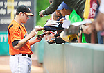 The Gazette Bowie Baysox pitcher Ryan Keefer signs autographs before a game on Thursday May, 7th at Prince George's Stadium in Bowie.