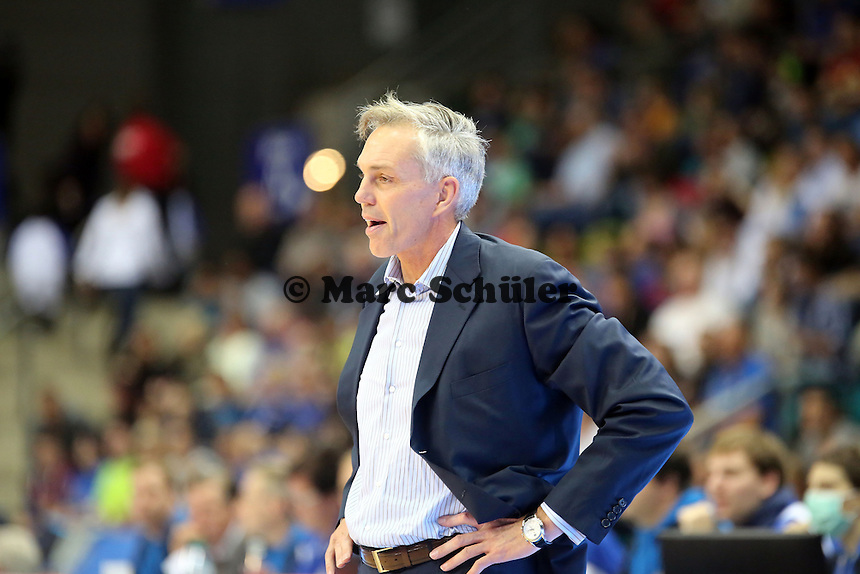 Trainer Gordon Herbert (Skyliners) - Fraport Skyliners vs. EWE Baskets Oldenburg, Fraport Arena Frankfurt