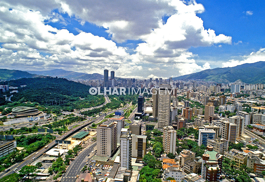 Cidade de Caracas. Venezuela. 1987. Foto de Daniel Augusto Jr.