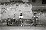 Cuba, Oriente,  Bayamo:<br /> Granma province, street scene market