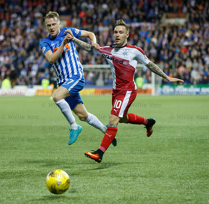 Luke Hendrie gets shirty with Barrie McKay