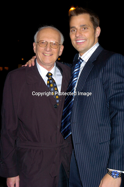 "The Apprentice winner Bill Rancic and George Ross ..at ""The Apprentice"" finale Party on April 15, 2004 at Trump Tower. Photo by Robin Platzer, Twin Images"
