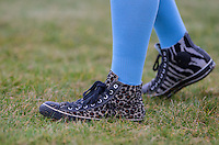 JESSE McCLURE (STORAGE HUNTERS) Converse shoes during the SOCCER SIX Celebrity Football Event at the Queen Elizabeth Olympic Park, London, England on 26 March 2016. Photo by Andy Rowland.