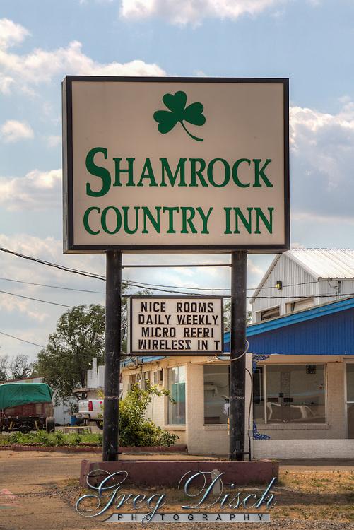 The Shamrock Country Inn on Route 66 in shamrock Texas.