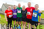 Helen Broderick (Kilmorna), Anthony Donnelly (Ballyheigue), Kevin O'Sullivan (Ballyheigue), Jackie O'Carroll (Causeway), Liam O'Halloran (Ballyheigue) and Noel Lawlor (Castlemaine) ready to run for fun in the Banna 10k on Sunday morning.