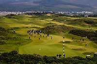 Walking up the 3rd during the Matchplay Final of the Women's Amateur Championship at Royal County Down Golf Club in Newcastle Co. Down on Saturday 15th June 2019.<br /> Picture:  Thos Caffrey / www.golffile.ie<br /> <br /> All photos usage must carry mandatory copyright credit (© Golffile | Thos Caffrey)
