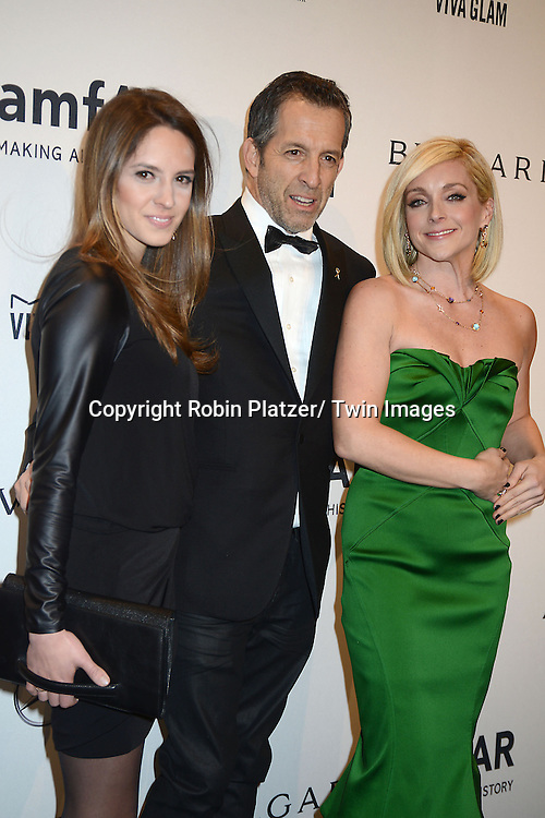 Emily and Kenneth Cole and Jane Krakowski attends the amfAR New York Gala on February 5, 2014 at Cipriani Wall Street in New York City.