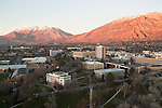 0611-32.BYU Illumination Filming project..Maeser Building and campus at sunset shot from Helicopter..November 24, 2006..Photography by Mark A. Philbrick..Copyright BYU Photo 2006.All Rights Reserved.photo@byu.edu   (801)422-7322