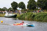 Nederland -  Purmerend - 23 juni  2018.    Solar Sport One race competitie. Het wereldkampioenschap Solar Boat racen. Boten die varen op zonne-energie.Young Solar Challenge slalom.    Foto Berlinda van Dam Hollandse Hioogte