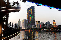 CHINA province Guangdong, city Guangzhou at pearl river / VR CHINA , Metropole Guangzhou Kanton am Perlfluss