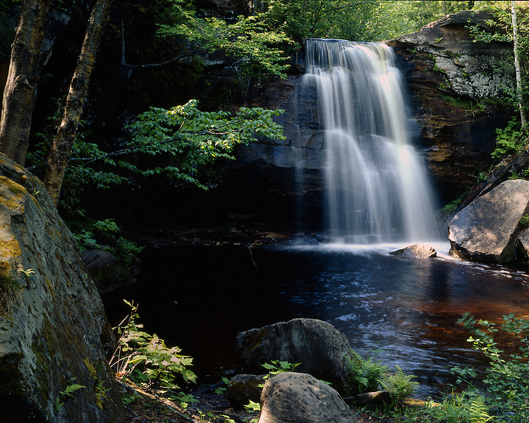 Middle Hungarian Falls, Houghton County, Michigan, May, 1990