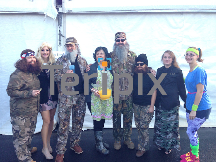 """Gary Kelly, CEO of Southwest Airlines, dressed as  """"Phil"""" from  Duck Dynasty, during Southwest Airlines' The Spirit of  Halloween show on Thursday, Oct. 31, 2014 at the company headquarters in Dallas, Texas."""