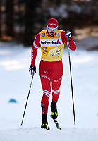 1st January 2020, Toblach, South Tyrol , Italy;  Sergey Ustiugov of Russia competes in the mens 15 km classic technique pursuit during Tour de Ski on January 1, 2020 in Toblach.