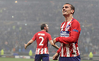 Club Atletico de Madrid's Antoine Griezmann celebrates after scoring his second goal during the UEFA Europa League final football match between Olympique de Marseille and Club Atletico de Madrid at the Groupama Stadium in Decines-Charpieu, near Lyon, France, May 16, 2018.<br /> UPDATE IMAGES PRESS/Isabella Bonotto