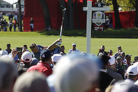 Sergio Garcia (Team Europe) on the 6th tee during the Friday afternoon Fourball at the Ryder Cup, Hazeltine national Golf Club, Chaska, Minnesota, USA.  30/09/2016<br /> Picture: Golffile | Fran Caffrey<br /> <br /> <br /> All photo usage must carry mandatory copyright credit (&copy; Golffile | Fran Caffrey)