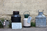 Ephemera old kitchen items as collectibles and bric a brac on sale in Cornwall, England, UK