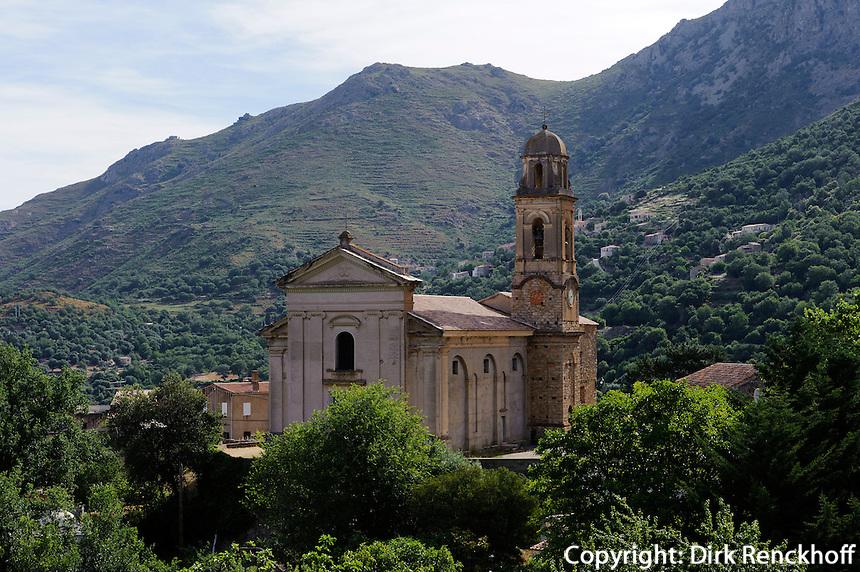 Kirche von Feleiceto in der Balagne, Korsika, Frankreich