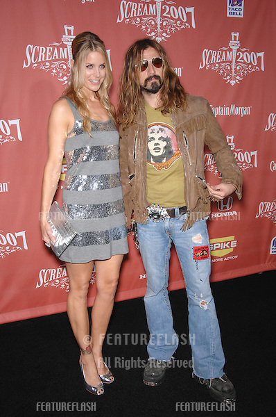 "Rob Zombie & Sheri Moon Zombie at Spike TV's ""Scream 2007"" Awards honoring the best in horror, sci-fi, fantasy & comic genres, at the Greak Theatre, Hollywood..October 20, 2007  Los Angeles, CA.Picture: Paul Smith / Featureflash"