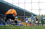 St Johnstone v Hearts....24.03.12   SPL.Jason Holt makes it 1-0 to Hearts.Picture by Graeme Hart..Copyright Perthshire Picture Agency.Tel: 01738 623350  Mobile: 07990 594431