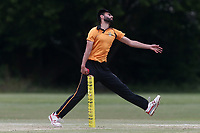 S Kamal in bowling action for Gidea Park during Gidea Park and Romford CC vs Harold Wood CC, Shepherd Neame Essex League Cricket at Gidea Park Sports Ground on 6th July 2019