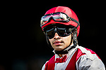JUNE 06: Luis Saez before the Tremont Stakes at Belmont Park in Elmont, New York on June 06, 2019. Evers/Eclipse Sportswire/CSM