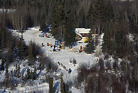 Aerial of Team Arriving at Ophir Checkpoint