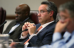 Nevada Sen. Mark Lipparelli, R-Las Vegas, works in committee at the Legislative Building in Carson City, Nev., on Monday, May 4, 2015.<br /> Photo by Cathleen Allison