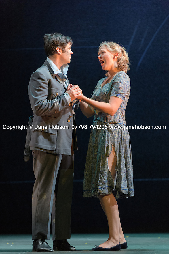 London, UK. 05.10.2016. English Touring Opera presents XERXES, by George Frideric Handel, at the Hackney Empire, prior to setting off on a UK tour. Picture shows: Clint van der Linde (Arsamenes), Laura Mitchell (Romilda). Photograph © Jane Hobson.