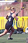 Santa Barbara, CA 02/18/12 - Audra Horton (Colorado #4) in action during the 2012 Santa Barbara Shootout.  Colorado defeated Cal Poly SLO 8-7.