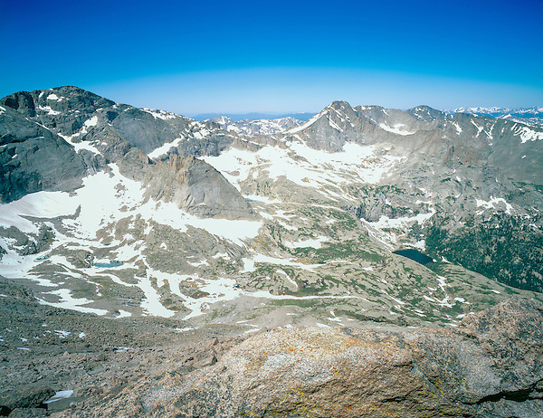 View from the Keyhole on Longs Peak, Rocky Mountain National Park, Colorado