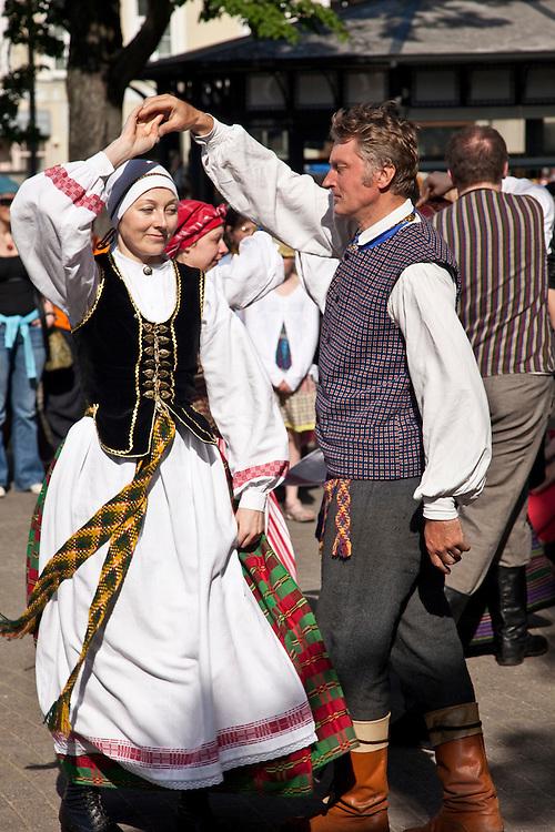 Folk Dancing at festival in Vilnius,Lithuania