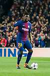 Samuel Umtiti of FC Barcelona in action during the UEFA Champions League 2017-18 Round of 16 (2nd leg) match between FC Barcelona and Chelsea FC at Camp Nou on 14 March 2018 in Barcelona, Spain. Photo by Vicens Gimenez / Power Sport Images