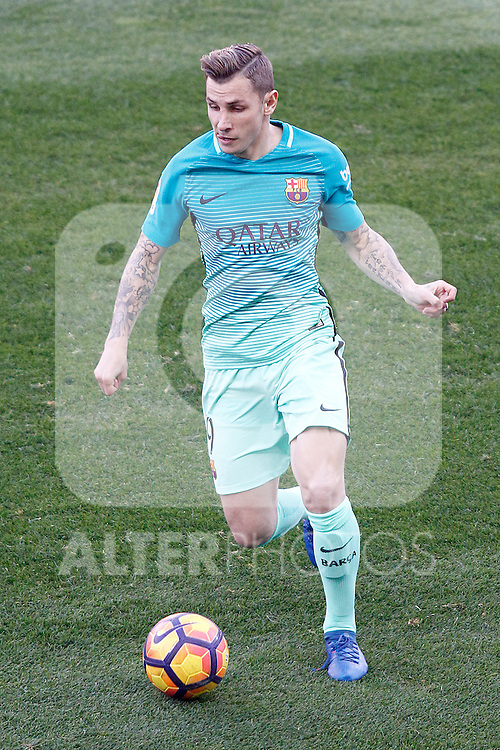 FC Barcelona's Lucas Digne during La Liga match. February 26,2017. (ALTERPHOTOS/Acero)