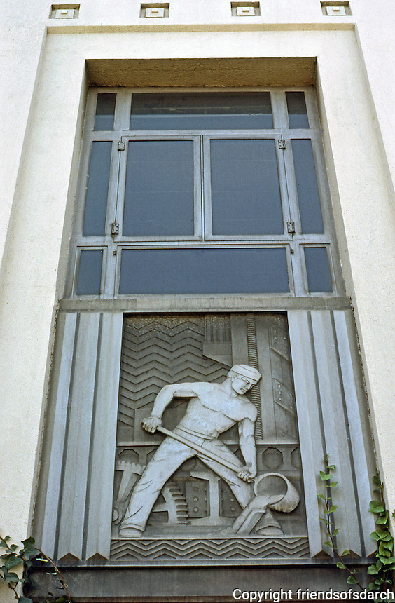 Los Angeles: Alcoa Building, Detail. Photo '85.