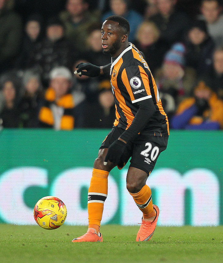 Hull City's Adama Diomande<br /> <br /> Photographer /Mick Walker CameraSport<br /> <br /> The EFL Cup Quarter Final - Hull City v Newcastle United - Tuesday 29th November 2016 - The KCOM Stadium - Hull<br />  <br /> World Copyright &copy; 2016 CameraSport. All rights reserved. 43 Linden Ave. Countesthorpe. Leicester. England. LE8 5PG - Tel: +44 (0) 116 277 4147 - admin@camerasport.com - www.camerasport.com