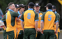 Jesse Ryder with his Wairarapa teammates during the match against Nelson at Nelson Park, Napier, New Zealand on Friday, 30 October 2015. Photo: Kerry Marshall / lintottphoto.co.nz