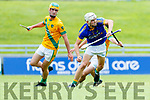 Sean Nolan Kilmoyley in action against Ricky Heffernan Lixnaw in the Kerry County Senior Hurling championship Final between Kilmoyley and Lixnaw at Austin Stack Park on Sunday.