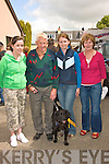 Super Dog:  Mary and Kate Dowling,  Helena and Bertie Enright, with their dog Chucky enjoying the dog show at the Dan Paddy Andy festival.