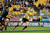 Hurricanes&rsquo; Beauden Barrett in action during the Super Rugby - Hurricanes v Highlanders at Westpac Stadium, Wellington, New Zealand on Friday 8 March 2019. <br /> Photo by Masanori Udagawa. <br /> www.photowellington.photoshelter.com