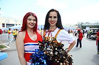 Fans als Cheerleader verkleidet auf dem Weg ins Stadion - 20.06.2018: Portugal vs. Marokko, Gruppe B, 2. Spieltag, Luschniki Stadion Moskau