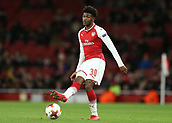 7th December 2017, Emirates Stadium, London, England; UEFA Europa League football, Arsenal versus BATE Borisov; Ainsley Maitland-Niles of Arsenal passing the ball