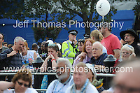 Peoples March for the NHS - Central London, Saturday 6th Sept 2014 - <br /> <br /> The Met. Police enjoying the entertainment<br /> <br /> <br /> Photographer: Jeff Thomas - Jeff Thomas Photography - 07837 386244/07837 216676 - www.jaypics.photoshelter.com - swansea1001@hotmail.co.uk