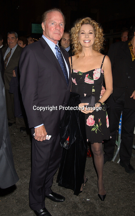 "..Frank and Kathy Lee Gifford..Kathy Lee Gifford in Dolce and Gabbana dress..at the Broadway opening of "" The Boy From Oz""  on October 16,2003 in New York City at the Imperial theatre...Photo By Robin Platzer, Twin Images"