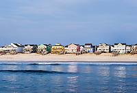 Waterfront Beach houses, Nags Head, OBX, Outer Banks, North Carolina, USA