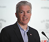 Steve Bellone, Suffolk County Executive, speaks about parking transportation logistics during a news conference on Sunday, June 10, 2018 at Shinnecock Hills Golf Club, which is hosting the 118th US Open Championship.